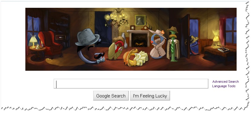 Google Agatha Christie Homepage